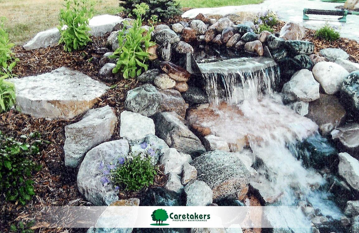 Landscaping Employment ooportunities with Caretakers could lead you to design this water feature.